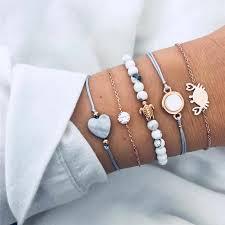 Modyle 2019 New <b>5pcs</b>/<b>set Bohemian</b> Beads Strand Bracelets ...