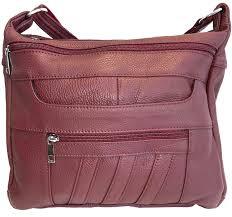 leather concealed carry cross purse ykk locking ccw ambidextrous bag roma 7082 handbags com