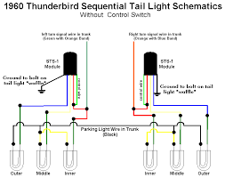 sequential turn signals on a thunderbird wiring diagram out control switch brake lights will sequence once then remain steady