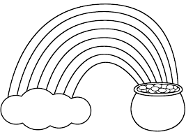 Small Picture Rainbow Pot of Gold and Cloud Coloring Page St Patricks Day