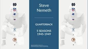 Steve Nemeth: Football Quarterback and Placekicker - YouTube