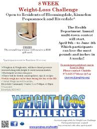 Office Weight Loss Challenge Tracker Weight Loss Challenge Page Township Of Pequannock Morris County