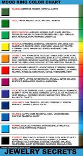 496 Best Mood Rings Images Rings Mood Ring Colors Mood