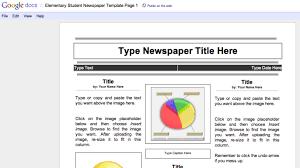 Newspaper Google Docs Template Using Google Docs To Create A Class Newspaper Class