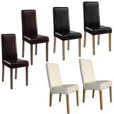 Faux Leather Dining Room Chairs Set 2 Faux Leather Dining Room Chairs Kitchen Living Room Home