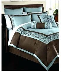 fascinating teal and brown quilt brown quilt set blue and brown bedding sets elegant piece queen