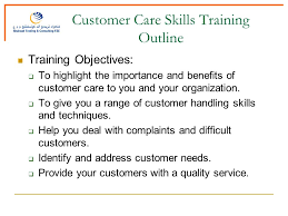 Customer Care Skills Training Outline Audience Selection