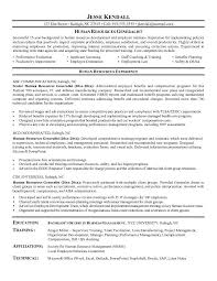 Resume Objective Statements For Human Resources Generalist With