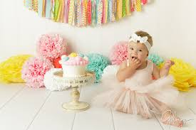 First Birthday Cake Smash Photography Baby Girl Gilmore Studios