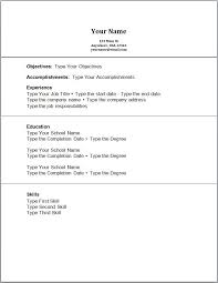 Resume Examples Objectives Work Experience Resume Template No