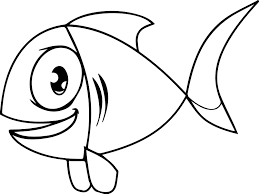 Small Picture Big Eye Cartoon Fish Coloring Page Sheet Wecoloringpage