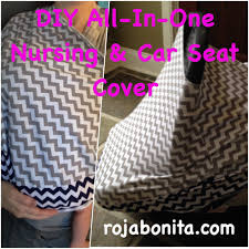 diy all in one nursing and car seat cover