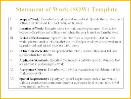 Scope Of Work Sample Document For Website Project Statement