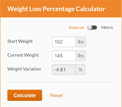 food percentage calculator calculate weight loss percentage calculator
