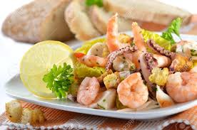 Delicious Seafood Salad With Baked ...