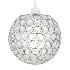 modern round silver chrome jewel ceiling light lamp shade chandelier lampshade
