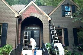 diy exterior house painting brick painted brick houses before and after painted brick houses painting brick