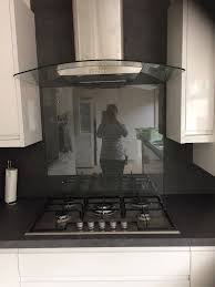 clear glass splashback protector
