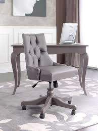 tufted on back swivel executive office chair on wooden base