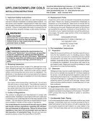 Goodman Piston Size Chart R410a Upflow Downflow Coils Manualzz Com