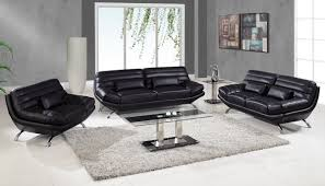 Top Grain Leather Living Room Set Perfect Decoration Black Leather Living Room Set Splendid Dublin