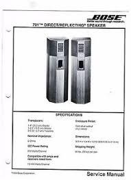 bose 701 series 1. image is loading original-bose-701-direct-reflecting-speaker-service-manual bose 701 series 1