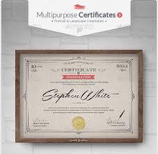 diploma template psd. 58 Printable Certificate Templates Free PSD AI Vector EPS