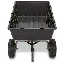 gorilla carts poly garden cart 1 500 pound capacity pneumatic tires for fast transport