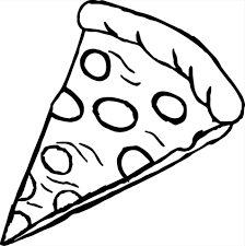 pizza slice clipart black and white. Simple Clipart Clipart Black And White  Pizza Slice Drawing Png