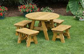 outdoor furniture wood 32 inch round child s table