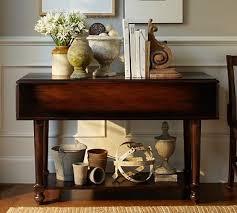 sofa table decor pottery barn. Avery Drop-Leaf Console Table, Weathered Walnut Stain- Pottery Barn Sofa Table Decor E