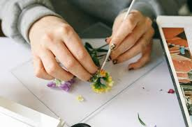 gently take them out of the paper towel and decide where you re going to place them in your glass frame to hold them in place use a clear glue to adhere