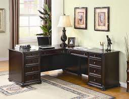 old home office desk painted with white color with drawer and bookshelf for small home office spaces ideas