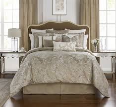 chantelle taupe comforter set by waterford paul s home fashions with regard to ideas 6
