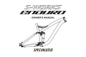 Owners Manual Specialized Bicycles