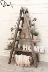 wooden ladder shelf furniture. DIY Sawhorse Bookcase With Free Plans And Only Three Tools. Wood Ladder ShelfPlant Wooden Shelf Furniture O