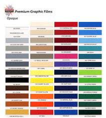Universal Products Vinyl Color Chart