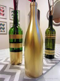 How To Make Decorative Wine Bottles DIY Spray Painted Wine Bottles for Fall Decorating Painted 1