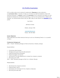 Resume Profile Examples For Students Profile In A Resume Examples For Students Summary Sentences 8