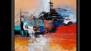 acrylic abstract painting in just 7 minutes real time sd painting demo