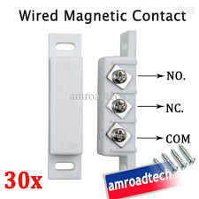 2018 30 x wired magnetic door window contact sensor w n o n c normally open close output for alarm system from amroadtech 68 45 dhgate com