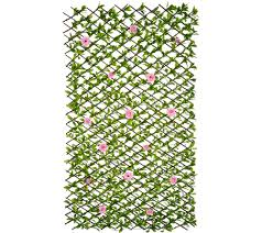 patio garden clearance offers qvc com barbara king expandable hedge with roses m52711