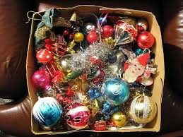 If your decorations look like this, you need to spend some time organizing  when it comes time to take the decorations down and store them.