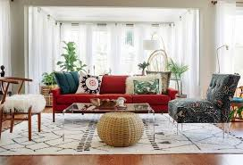 red couch living room wild country