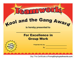 Funny Awards At Work Teamwork Award Funny Certificates When Its Time To Say