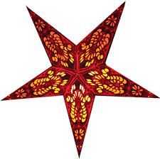 Bombay Weihnachtsstern Leuchtstern Papierstern 60cm Mit Zippverschluß Leuchtmittel Wählbar