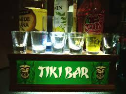 tiki bar lighted shot glass or liquor bottle display shelf 1 of 1only 3 available