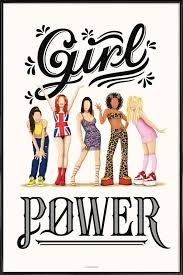 Girl Power As Poster In Standard Frame By Nour Tohme Juniqe