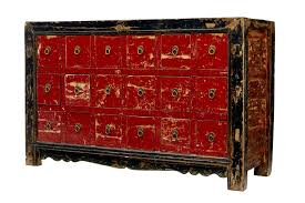 red lacquered furniture. Early 20th Century Chinese Red Lacquered Chest Of Drawers (1 7) Furniture I