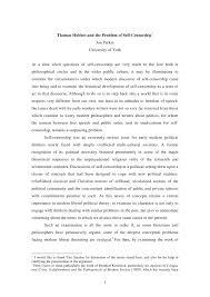 thomas hobbes essay